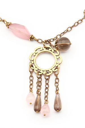 Колье ALCOZER. Цвет: золотой, розовый