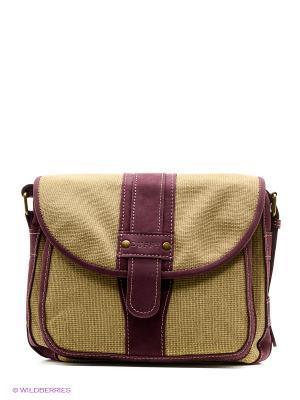 Сумка Duffy. Цвет: оливковый, фиолетовый