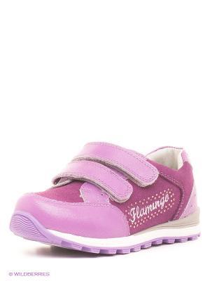 Кроссовки Flamingo. Цвет: сиреневый