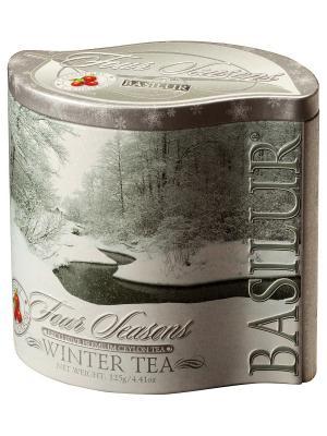 Чай Basilur ВРЕМЕНА ГОДА Зимний 125 г. Цвет: серый, белый, серебристый