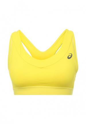 Топ спортивный ASICS. Цвет: желтый