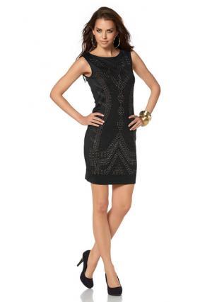 Коктейльное платье Laura Scott. Цвет: черный/золотистый