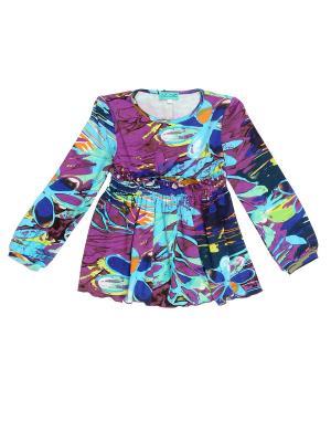 Блуза PETITE MARI. Цвет: сиреневый