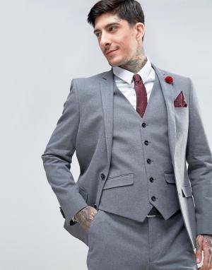 Harry Brown Узкий фланелевый пиджак. Цвет: серый