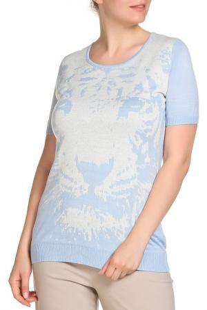 Пуловер SARAH KERN. Цвет: голубой
