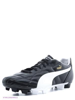 Бутсы Classico FG Puma. Цвет: черный, белый