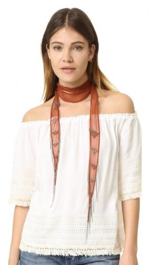 Колье/шарф с бахромой Chan Luu. Цвет: арабские специи