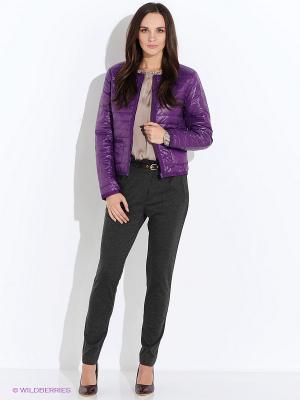 Куртка Oodji. Цвет: черный, фиолетовый
