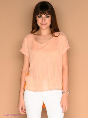 Блузка ICHI. Цвет: персиковый, оранжевый