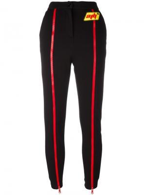 Спортивные брюки на молнии Au Jour Le. Цвет: чёрный