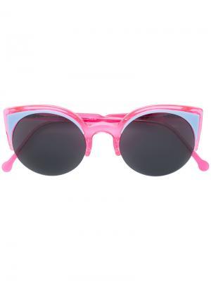 Солнцезащитные очки в оправе кошачий глаз Retrosuperfuture. Цвет: розовый и фиолетовый
