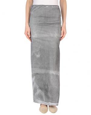 Длинная юбка MARTA MARTINO. Цвет: серый