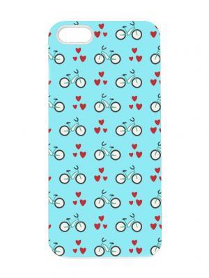 Чехол для iPhone 5/5s Велики на голубом Chocopony. Цвет: бирюзовый, бордовый, белый, черный