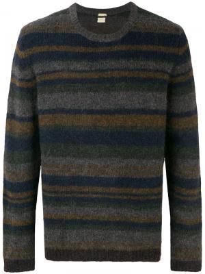 Полосатый свитер Massimo Alba. Цвет: серый