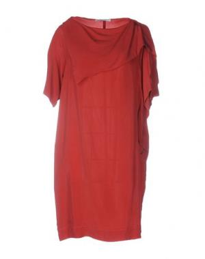 Короткое платье OBLIQUE CREATIONS. Цвет: красно-коричневый