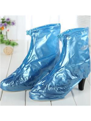 Дождевики для обуви с каблуком голубые размер M Homsu. Цвет: голубой