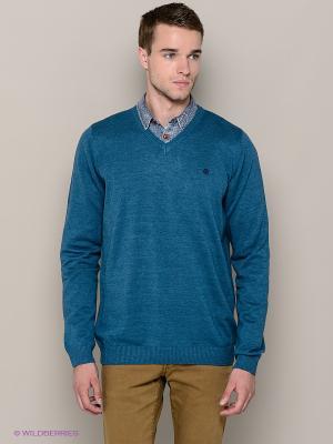 Пуловер Blend. Цвет: морская волна