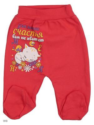 Ползунки для новорожденных Bonito kids. Цвет: малиновый