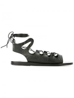 Сандалии Antigone Ancient Greek Sandals. Цвет: чёрный