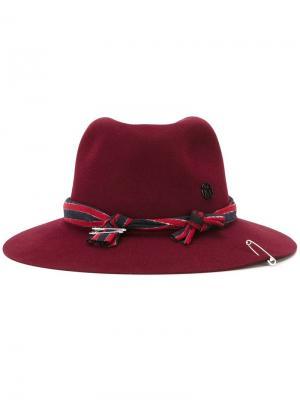 Шляпа-федора Maison Michel. Цвет: розовый и фиолетовый