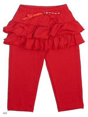 Бриджи-юбка Три ползунка. Цвет: красный