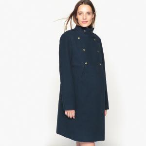 Пальто для периода беременности La Redoute Collections. Цвет: темно-синий