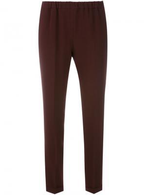 Укороченные брюки Alberto Biani. Цвет: красный