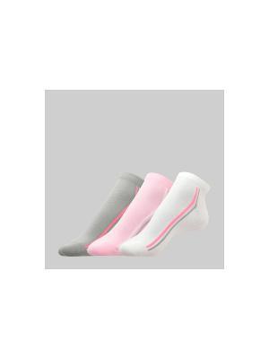 Носки Conte ACTIVE 7С-41СП комплект 3 пары Elegant. Цвет: белый, серый, розовый