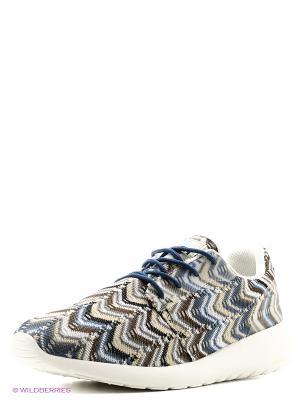 Кроссовки UN1TA. Цвет: синий, бежевый, белый