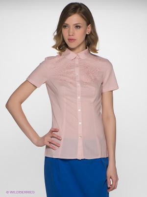 Блузка Finn Flare. Цвет: бледно-розовый