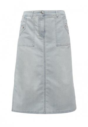 Юбка джинсовая Gerry Weber. Цвет: голубой