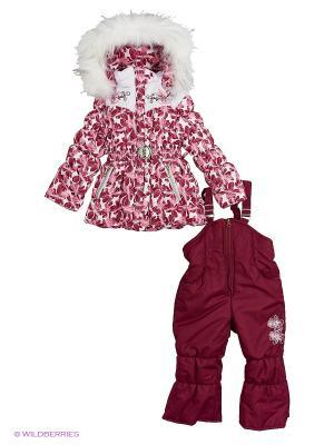 Комплект для девочки Rusland. Цвет: бордовый