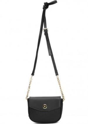Маленькая кожаная сумка через плечо Innue. Цвет: черный