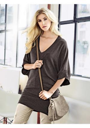 Пуловер B.C. BEST CONNECTIONS. Цвет: коричневый, песочный, темно-синий