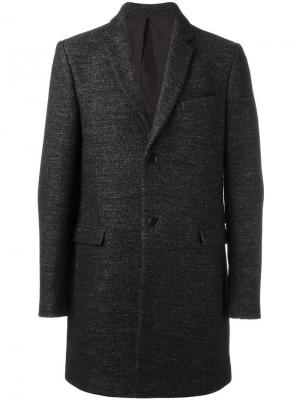 Однобортное пальто Folk. Цвет: серый