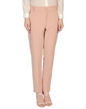 Повседневные брюки JILL MORISCO Milano. Цвет: пастельно-розовый