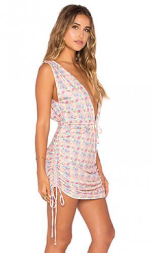 Платье-накидка travelers 6 SHORE ROAD. Цвет: розовый
