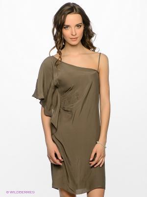 Платье Motivi. Цвет: хаки