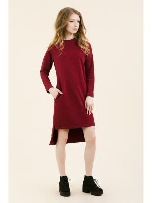Платье-свитшот реглан бордо (KW3) (M (44-46)) MONOROOM