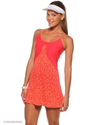 Платье Wilson. Цвет: коралловый