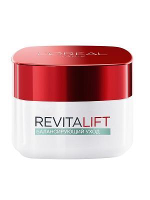 Антивозрастной крем Ревиталифт для лица, балансирующий, смешанной кожи, 50 мл L'Oreal Paris. Цвет: белый, красный