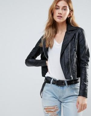 Muubaa Байкерская куртка c карманами. Цвет: черный