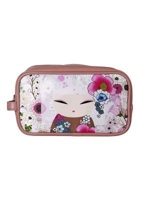 Сумочка для косметики Аина Kimmidoll. Цвет: розовый