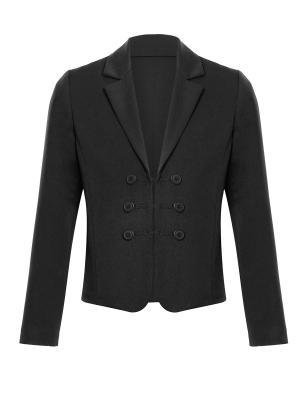 Пиджак для средней школы Arina. Цвет: черный