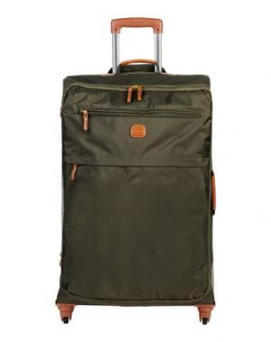 Чемодан/сумка на колесиках BRIC'S. Цвет: зеленый-милитари