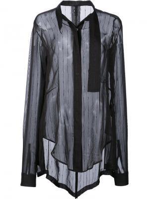 Рубашка с блестящими полосками Unravel Project. Цвет: чёрный