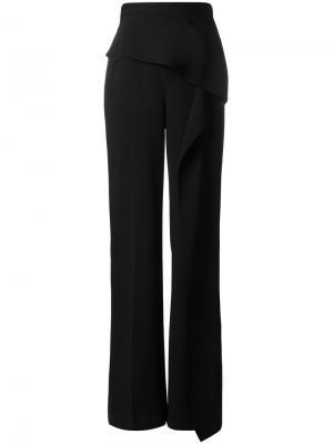 Широкие брюки Caldwell с оборкой Roland Mouret. Цвет: чёрный