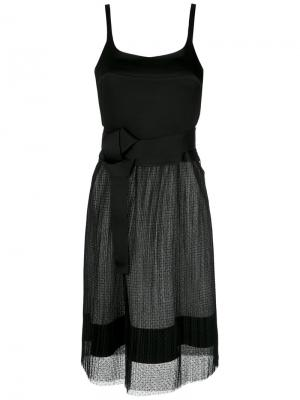 Pleated gown Gloria Coelho. Цвет: чёрный
