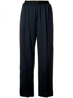 Широкие брюки с полосками по бокам Astraet. Цвет: синий