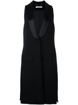 Жилет с контрастными лацканами Givenchy. Цвет: чёрный